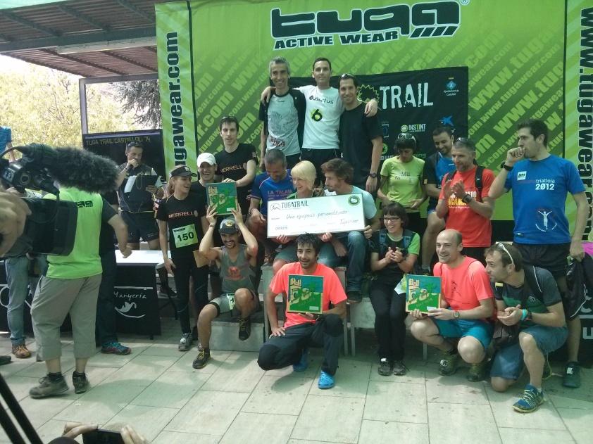Entrega de premios por equipo